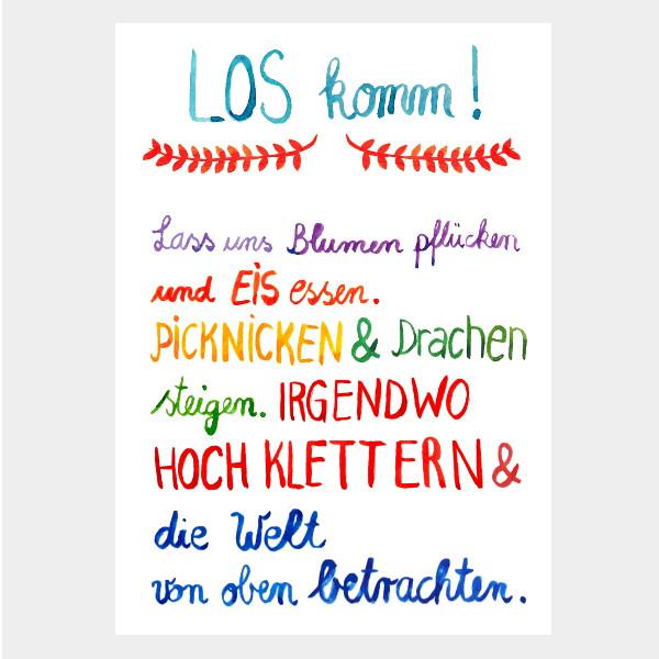 "Postkarte ""Los Komm!"""