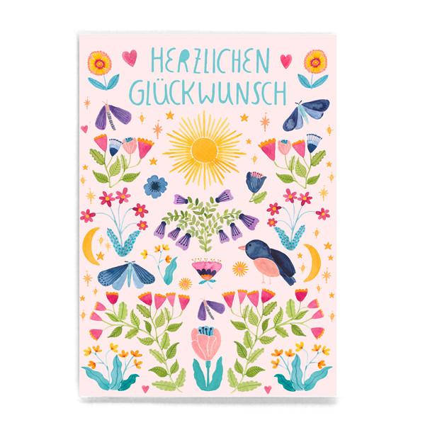 """Postkarte """"Herzlichen Glückwunsch"""""""