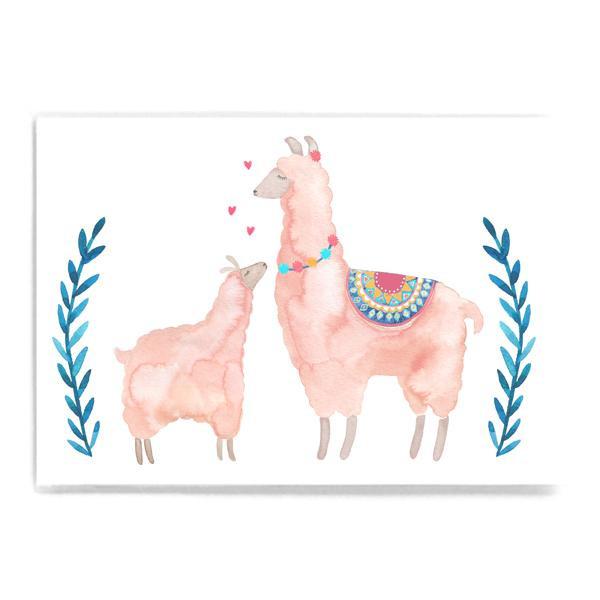 """Postkarte """"Lamaliebe"""""""