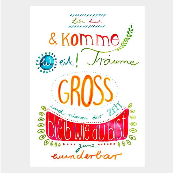 """Postkarte """"Lebe Hoch"""""""