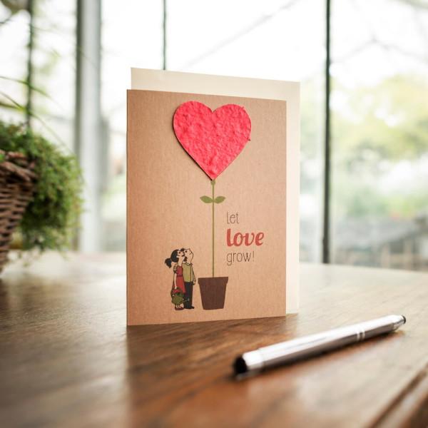 Grußkarte - Let Love Grow