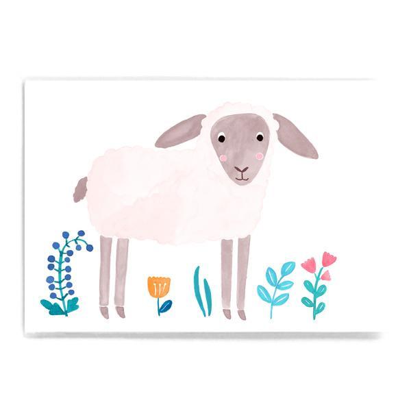 "Postkarte ""Lamm"""