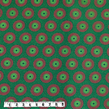Bio Rapskissen - Shweshwe grün/pinke Kreise