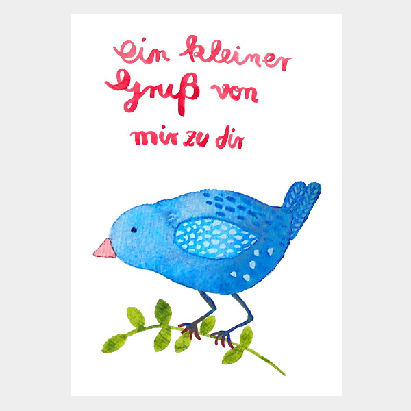"""Postkarte """"Ein kleiner Gruß"""""""