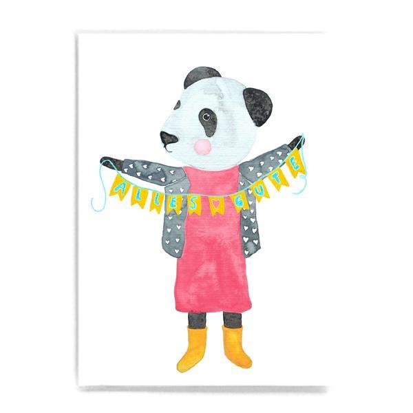 "Postkarte ""Alles Gute"" mit Panda"