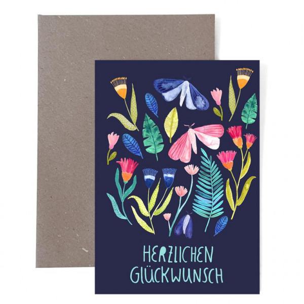 """Grußkarte Zum Geburtstag """"Herzlichen Glückwunsch"""""""