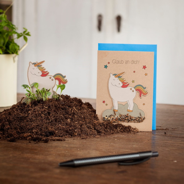 Saatsteckerkarte - Glaub an Dich