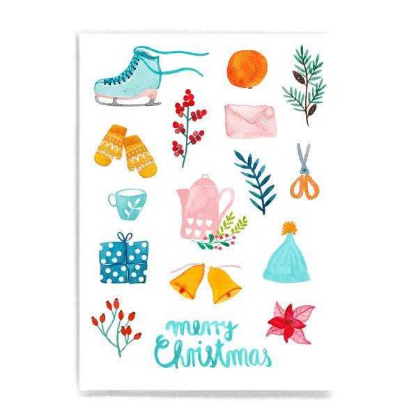 "Postkarte ""Merry Christmas"" Collage"