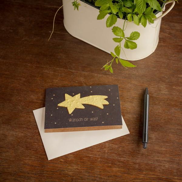 Grußkarte - Sternschnuppe
