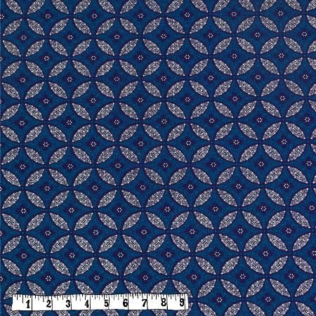 Bio Rapskissen - Shweshwe blaue Blumen/Kreise