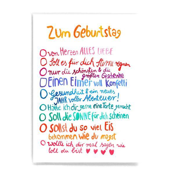 """Postkarte """"Schönste Geburtstagswünsche"""""""